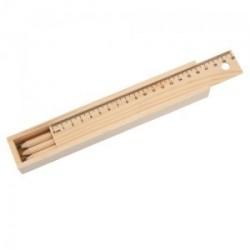 Boîte avec 6 Crayons en bois