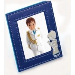 Cadre Photo Enfant Communion peau.