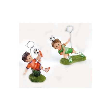 Clip porte notes enfant footballeur