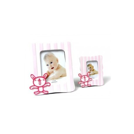 Cadre photo bébé Rose XL