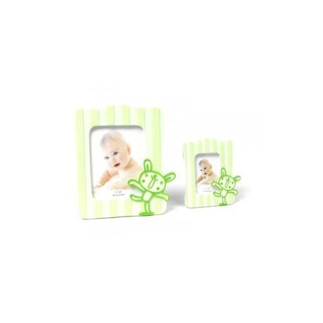 Cadre photo bébé vert L