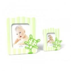 Cadre photos bébé vert XL