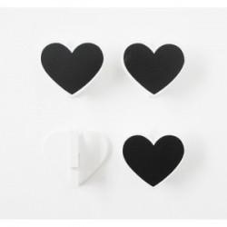 Pinces Ensemble de 4 coeurs ardoise pour la décoration