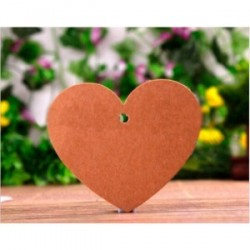 lot de 50 cartes coeur en Kraft