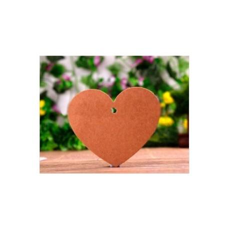 lot de 50 cartes coeur en Kraft