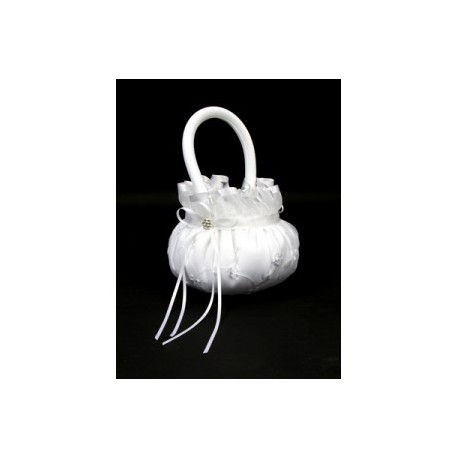 Panier blanc avec anses mariage
