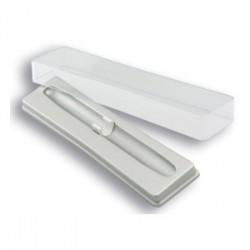 Boîtier en plastique argenté pour le stylo