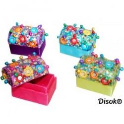 Boîte à bijoux en strass avec clochettes