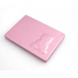 Miroir avec peigne Ours rose