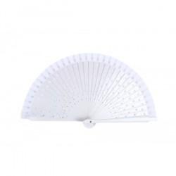 Blanc Coeurs Wood Fan