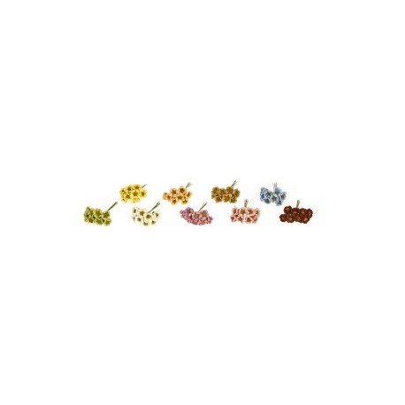 pique décoration : Bouquet de 8 fleurs