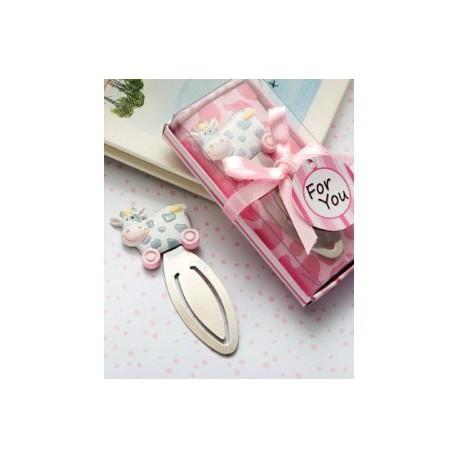 Marque-pages vachette rose