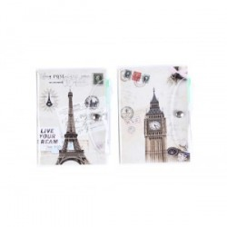 Bloc-notes PVC «cartes postales»